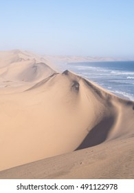 Sandwich Harbour, a lagoon on the Atlantic coast of Namibia, lying south of Walvis Bay, within the Namib-Naukluft National Park.