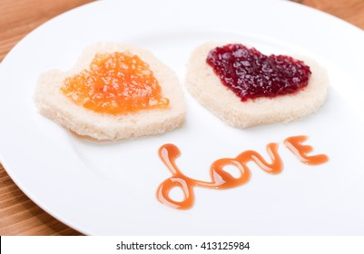 sandwich with jam and love