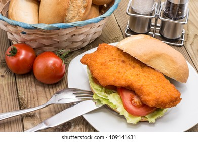 Chicken Schnitzel Roll Images Stock Photos Vectors Shutterstock