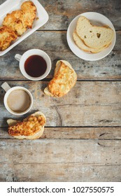 Sandwich with meat and tea-snack (two servings)
