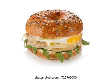 sandwich on cereal bread with chicken and egg