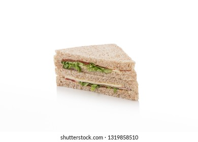 sandwich on isolated white background