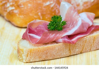 Sandwich with parma ham. Italy.