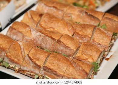 Sandwich  plate with lettuce