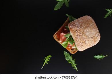sandwich prosciutto hamon ciabatta