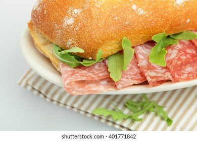 Sandwich with Salami, Traditional Food