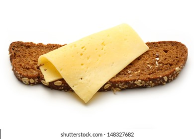 Sandwich with slice of cheese