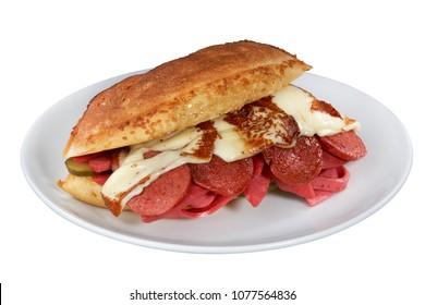 Sandwich (Turkish name is Kumru),Turkish Traditional Snack Sandwich,Kumru