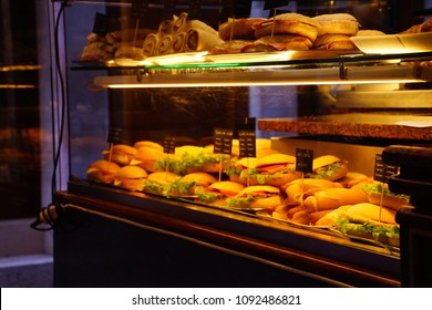 Sandwiches in a coffee shop near Piazza San Marco in Venice, Italy