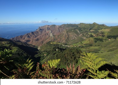 Sandy Bay district on remote St Helena Island