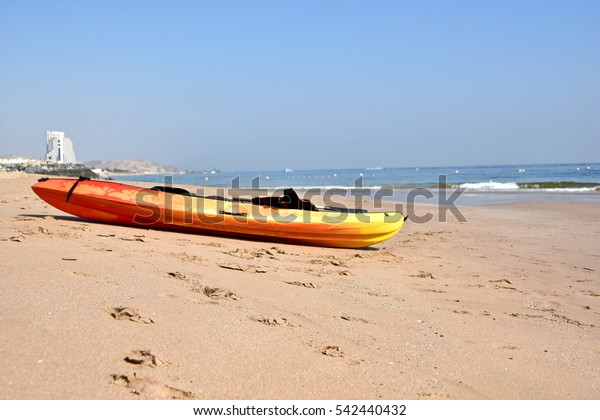 Sandy beach, Al Aqah beach, Fujairah, United Arab Emirates