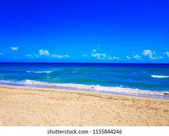 Sandy beach in the Caribbean