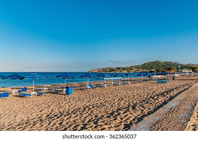 Sandy beach, Faliraki Rhodes