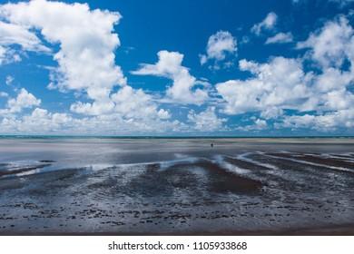 Sandy Beach landscape at low tide. World Water Day 2020 - Shutterstock ID 1105933868