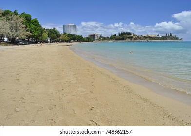 Sandy Beach in Noumea, New Caledonia