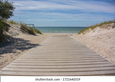 Sandy beach on the Baltic coast, in Vääna-Jõesuu, Estonia