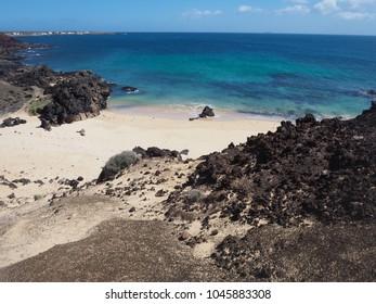 Sandy beach on the island of La Graciosa, Canary Islands