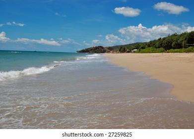 Sandy beach on a tropical island