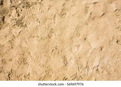 Sandy beach pattern closeup, Summer seacoast background