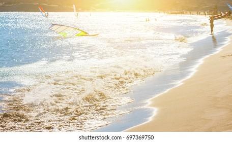 Sandy beach in Prasonisi, Rhodes Greece