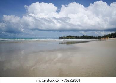 Sandy beach in Sabah Malaysia Borneo.