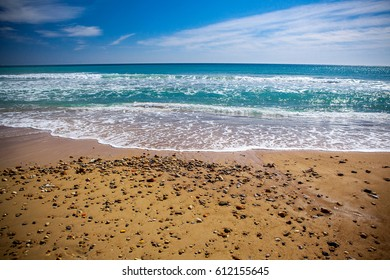 Sandy beach and the sea in Spain on the Costa Blanca