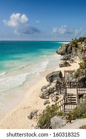 Sandy beach in Tulum, Yucatan, Mexico