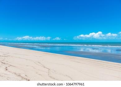 Sandy Beach View in Jericoacoara Brazil
