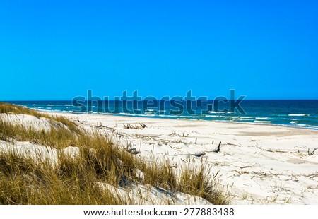 sandy bech dunes leba baltic sea stock photo edit now 277883438