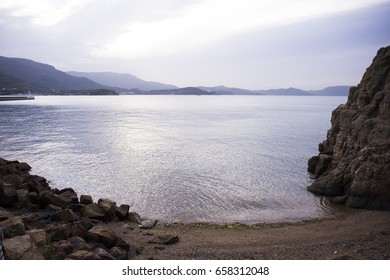 The sandy coast