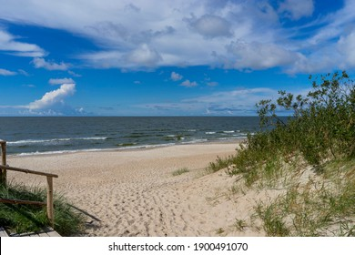 Sandy coast of Palanga, Baltic Sea