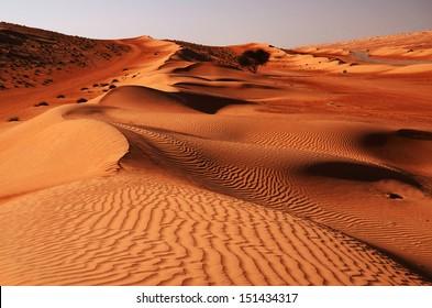Sandy desert Wahiba in Oman, Near East