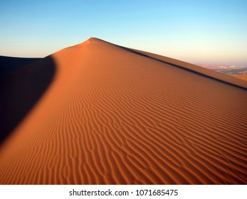 Sandy dune in Rub Al Khali (Empty Quarter) desert in UAE