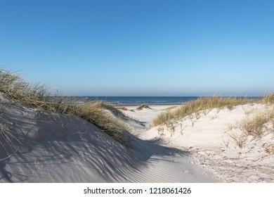 Sandy dunes by Baltic sea, Liepaja, Latvia.