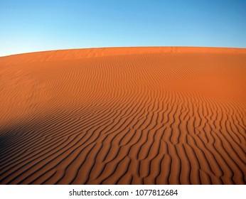 Sandy Rub Al Khali (Empty Quarter) desert in UAE