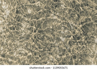 Sandy seabed, top view - beautiful water texture