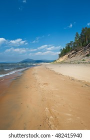 Sandy shore of Lake Baikal,Turka village