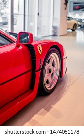Sandy Springs,Georgia/ USA - March4 2019: Ferrari F40 Front end taken at and angle