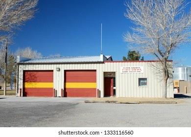 Sandy Valley Nevada USA October fifth 2018. Sandy Valley Volunteer Fire Department Of Clark County Nevada's Firehouse.