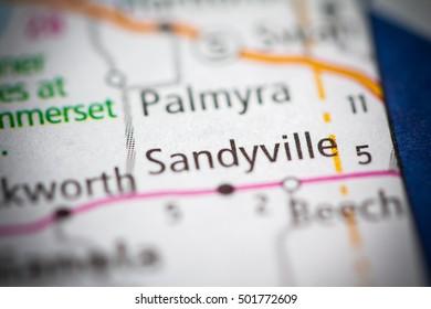 Sandyville. Iowa. USA.