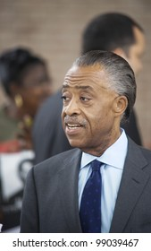 SANFORD, FL-MARCH 31: Al Sharpton participates with protesters rallying towards the Sanford Police department in support of Trayvon Martin. March 31, 2012 in Sanford Florida.