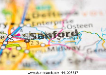 Map Of Sanford Florida.Sanford Florida Usa Stock Photo Edit Now 441005317 Shutterstock
