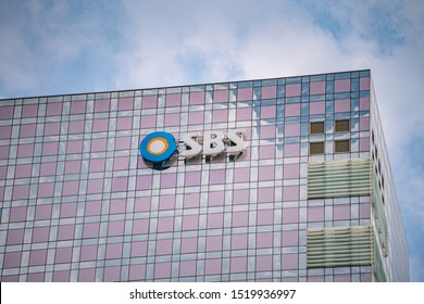 Sang am-dong, Seoul/Korea Republic of - September 03 2019 : SBS (Seoul Broadcasting System)office building in korea republic of
