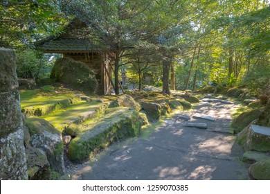 Sangan-en park in Kagoshima, Kyushu, Japan