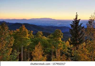 Sangre De Cristo Mountains during autumn located in New Mexico.