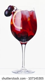 Sangria drink against white background