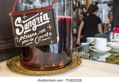 Sangria Sold in Mercado de San Miguel in Madrid Spain