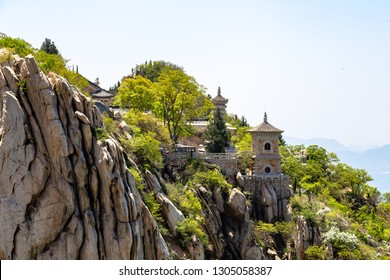 Sanhuang Basilica on the top of Songshan Mountain, Dengfeng, Henan, China. Songshan is the tallest of the 5 sacred mountains of China dedicated to Taoism, near the famous Shaolin temple
