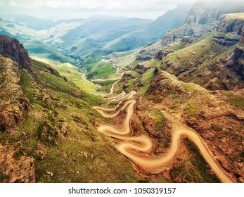 Sani Pass down into South Africa