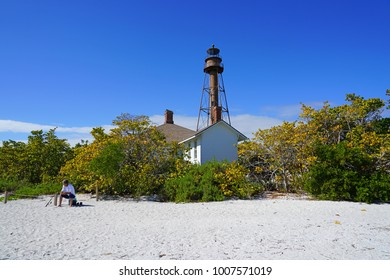 SANIBEL, FLORIDA  15 JAN 2018  View Of The Sanibel Island Lighthouse (Point